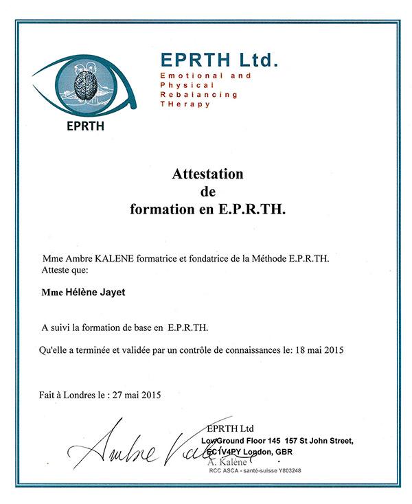 Diplome EPRTH